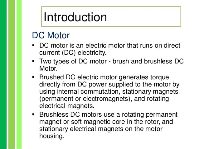 Difference between ac and dc motor ppt for Advantages of ac motor