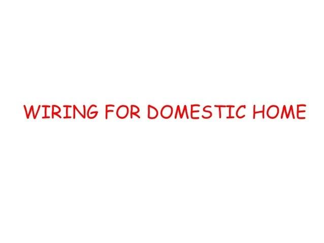 Home Wiring Estimate