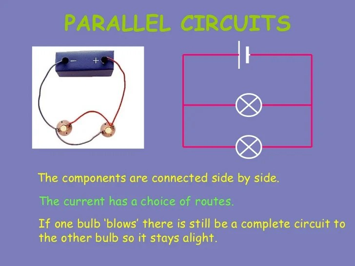 Current In Parallel Circuits The Total Current Flowing From The Cell