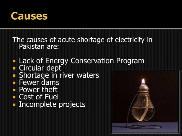 Electricity crisis in Pakistan