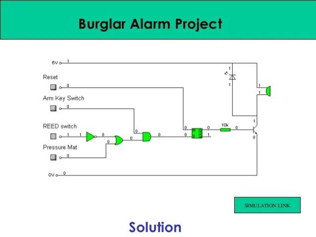 Burglar Alarm Circuit For Your Home Security Electronics Circuits