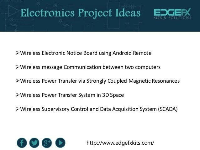 Latest Electronics Projects For Engineering Students