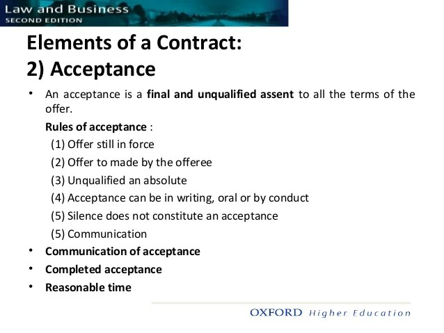 Main elements constituting a vaild contract | Term paper Academic ...