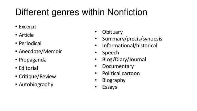 Elements Of NonFiction