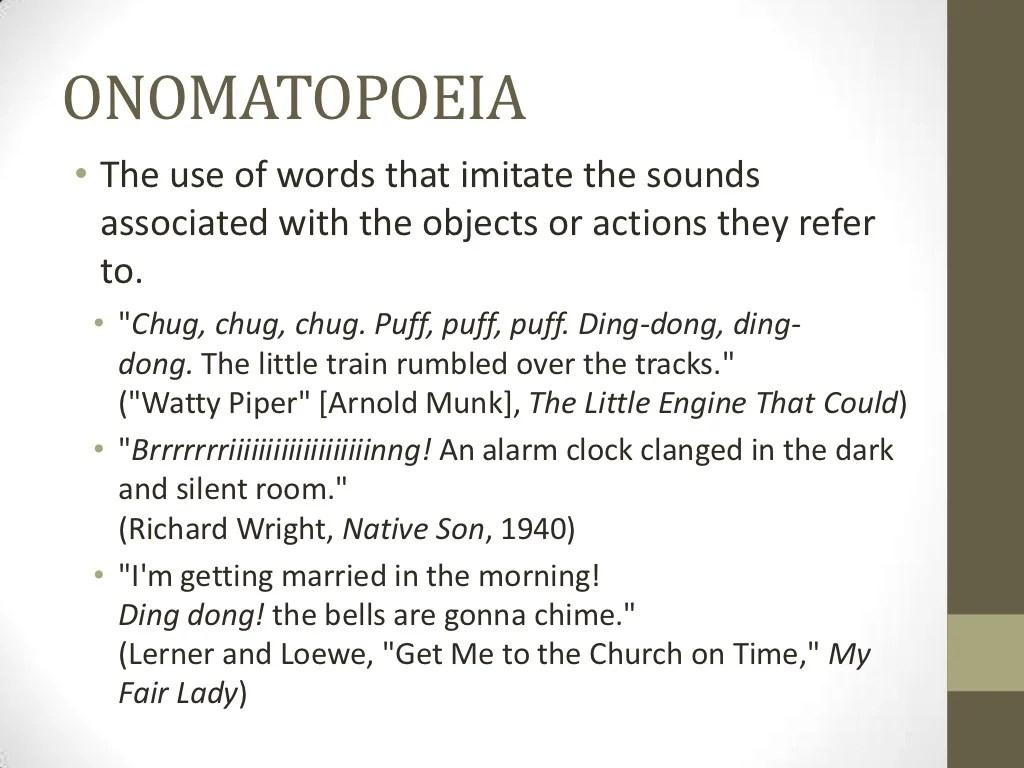 Onomatopoeia The Use Of Words