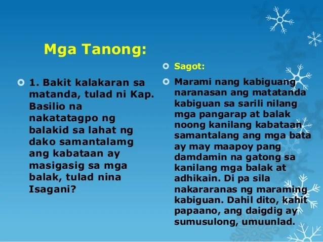 Mga Palaisipan Tagalog Na May Sagot - Boku kara TAYUTAY AT