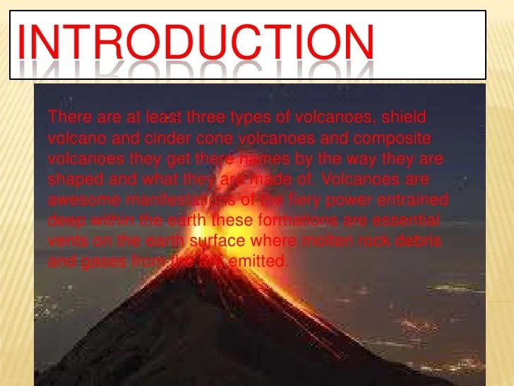 Are Three Different Types Volcanoes What