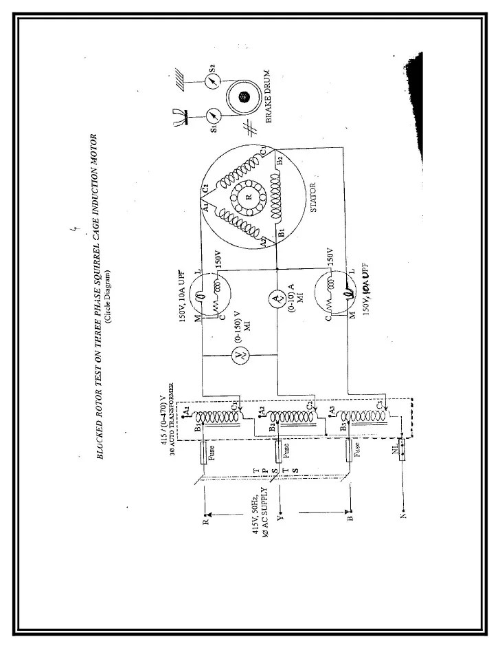 Brake Test On  Phase Slip Ring Induction Motor