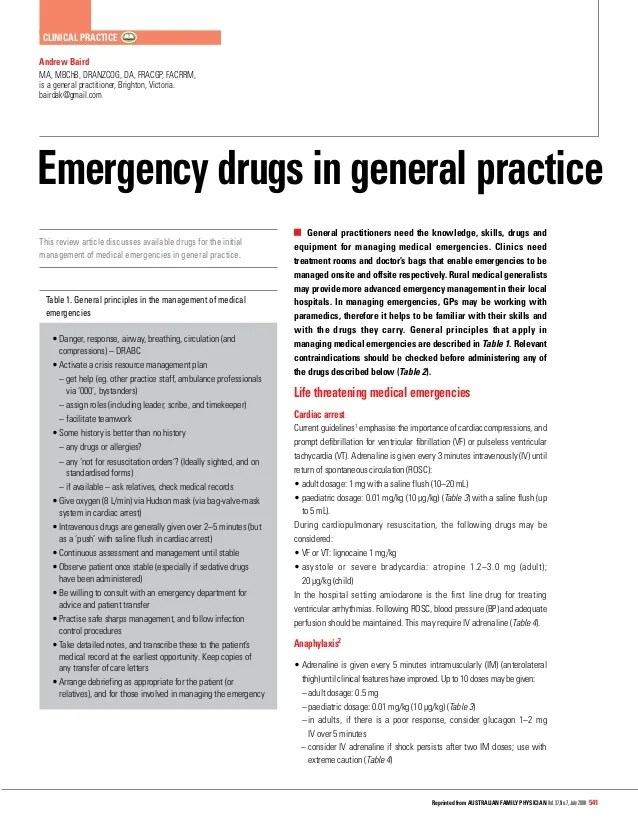 also emergency drug list rh slideshare