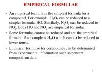 Empirical Formula worksheet answer Key