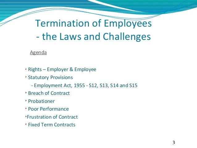 termination of employees also employee laws in malaysia rh slideshare