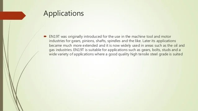 also en steel its properties and application rh slideshare
