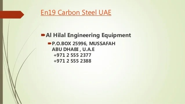 En carbon steel also its properties and application rh slideshare