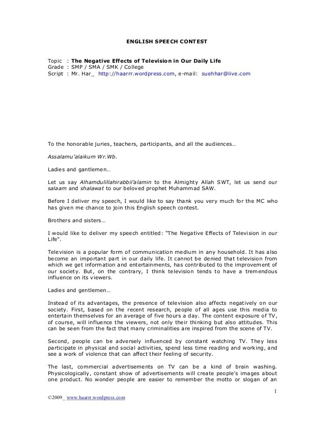 Essay On Tv Violence Essay About The Effect Of Television On