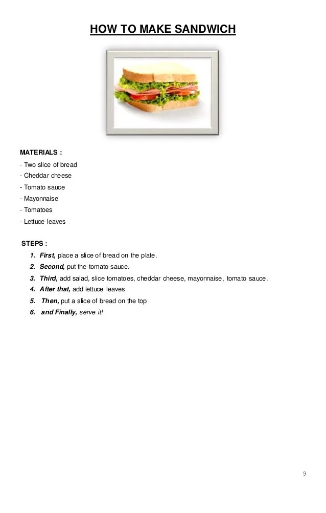 Procedure Text How To Make Sandwich : procedure, sandwich, Procedure, Sandwich, Picture, Steps, Temukan, Contoh
