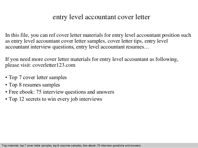 Entry Level Cover Letter Cover Letter Example 2 Entry Level Cover