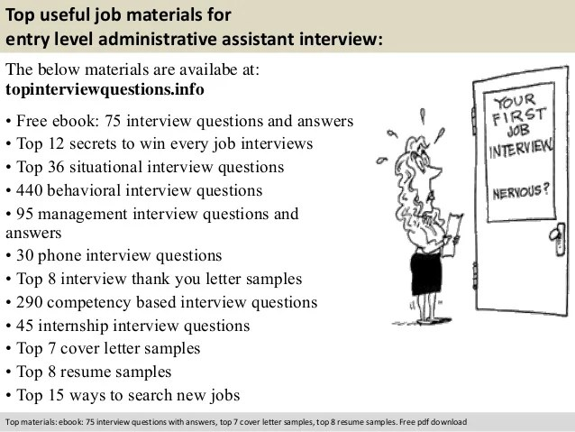 Entry level administrative assistant interview questions