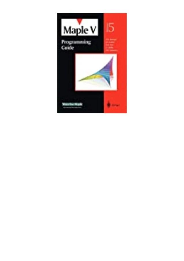 Download Maple 18 : download, maple, Download}, Maple, Programming, Guide, Release, [Ebook]^^