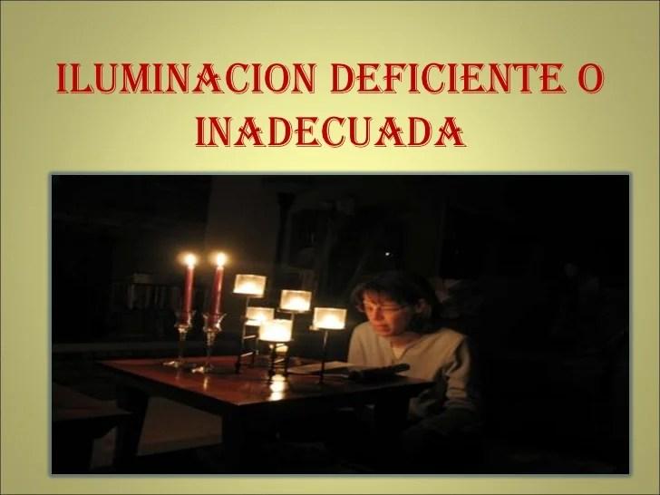 Riesgos Iluminacion Deficiente
