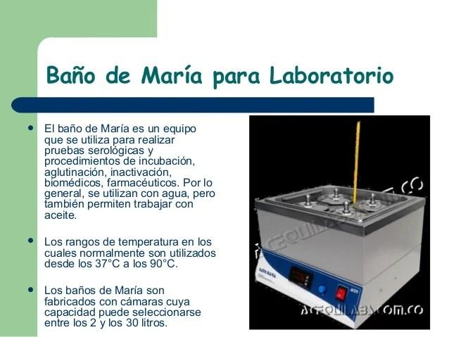 Bano Maria Laboratorio Costo