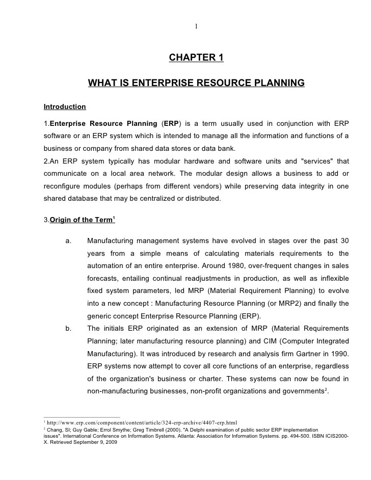 ERP A Research & Study Paper By Ejaz Ahmed Bhatti