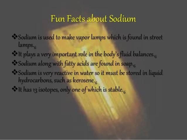 Sodium (Emily Esham)