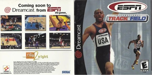 Espn International Track And Field Manual Dreamcast Ntsc