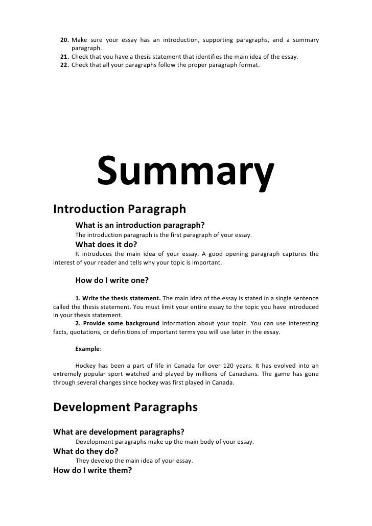 Essay introdevlpconcl