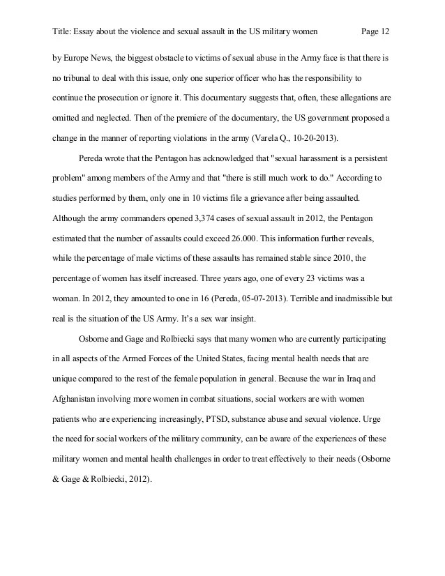 Sexual Assault Essays Essay About The Violence And Sexual Assault In