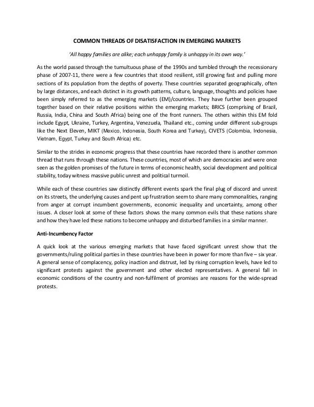 Essay Common Economic & Political Factors In Emerging Markets