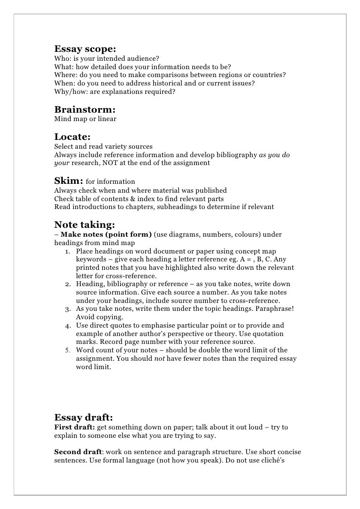 Essay Writing Hints Booklet 1