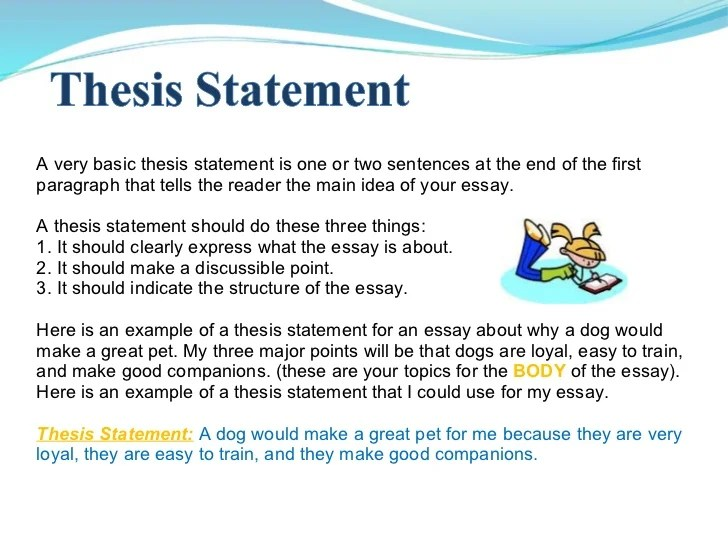 The Thesis Statement In A Research Essay Should The Thesis Statement