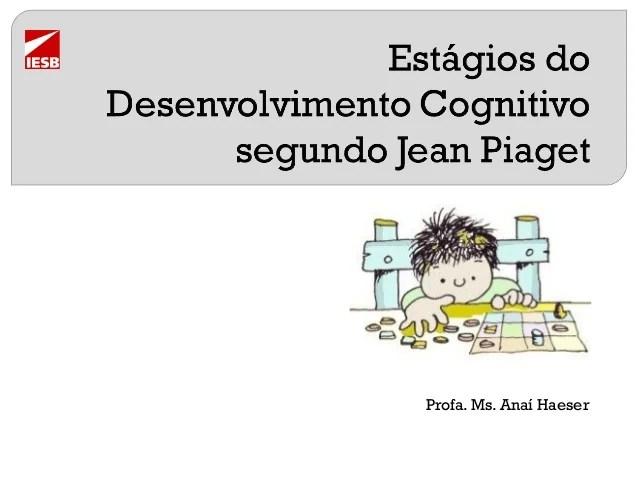 Resultado de imagem para Estágios do desenvolvimento cognitivo segundo jean piaget