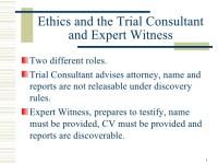 Sample expert witness resume