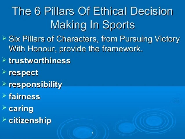Ethics in sports