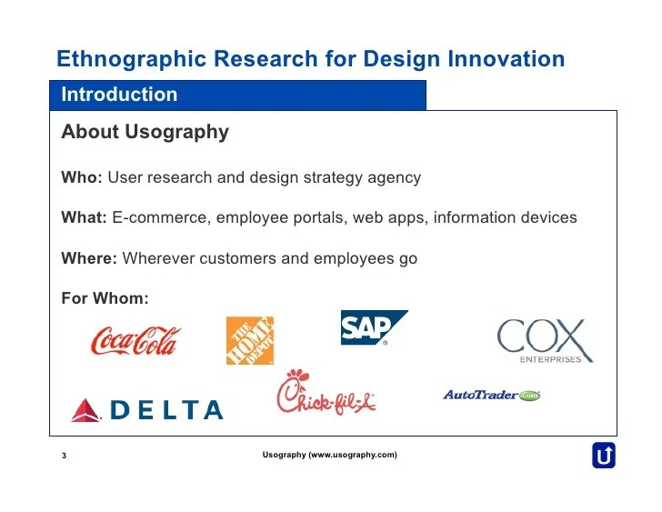 Ethnographic Research For Design Innovation
