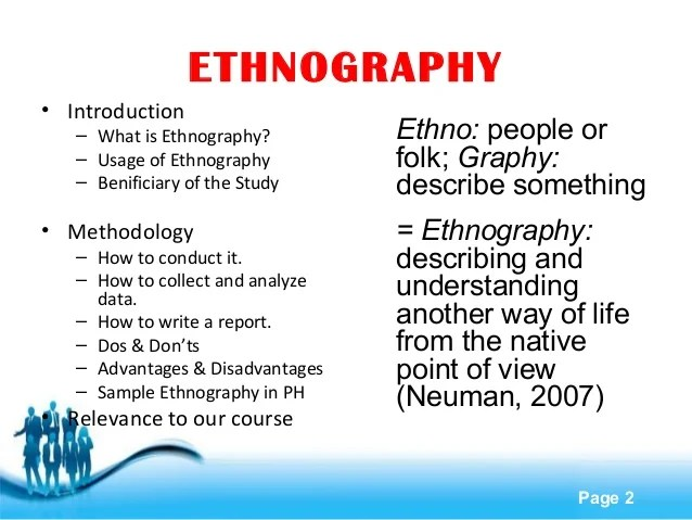how to write a short ethnography