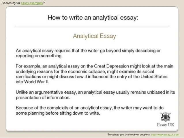 Analytical Essays Sample Analytical Essays How To Write An