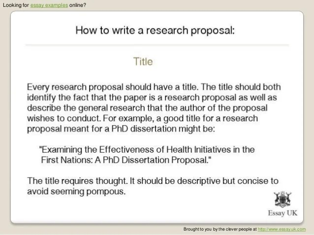 Proposal Essay Examples Essay Examples How To Write A Research