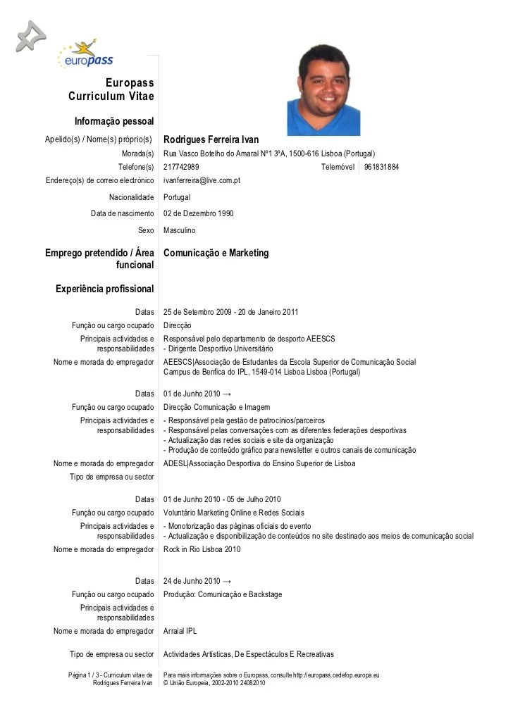 Cv Europass Model Romana 2014 Sample Service Resume