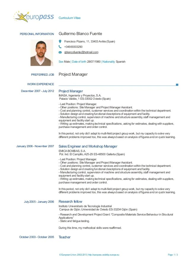 Curriculum Vitae English Example Word Sample Letter Format For Visa