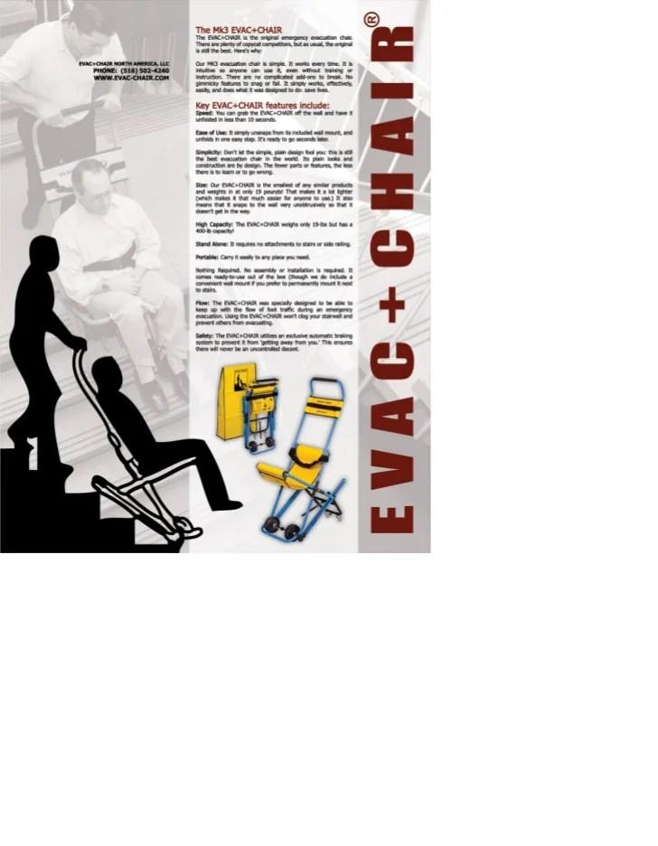 The MK3 EVACCHAIR emergency evacuation system