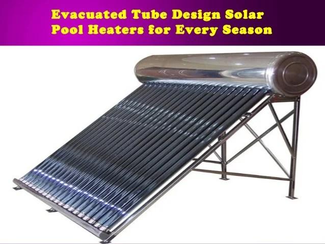 Evacuated Tube Solar Heater Facias