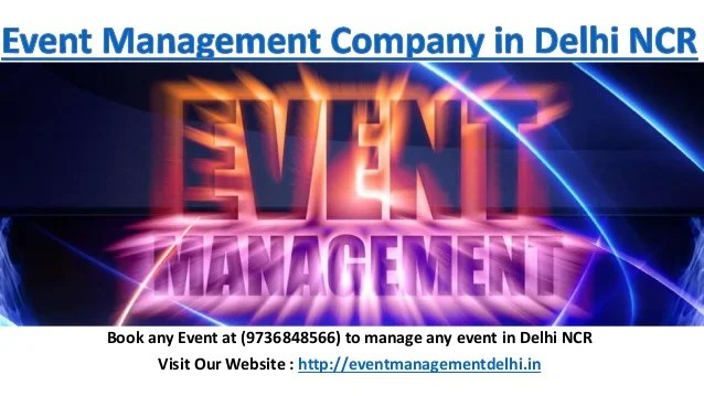 Event Management Company In Delhi Ncr