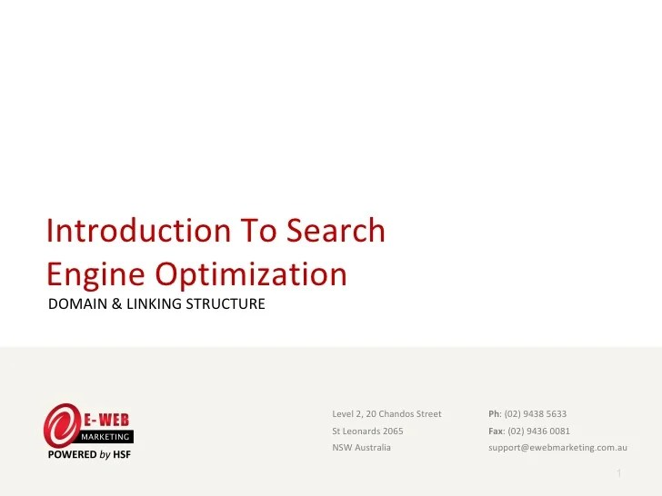 Introduction To Seo Domain And Linking Structure