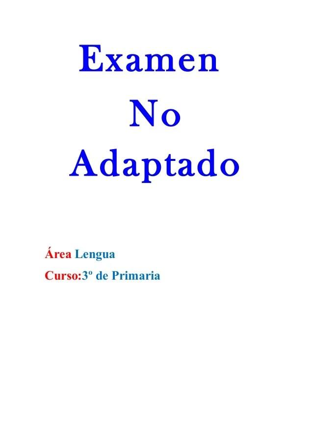 Examen Lengua 3º De Primaria