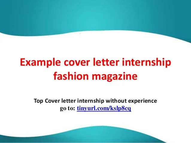 cover letter for editorial internship