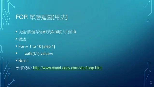 Excel vba實務應用 第3天
