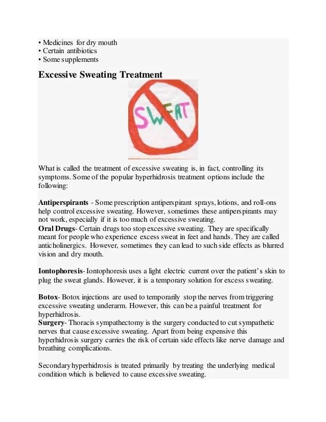 Excessive Sweating (Hyperhidrosis)