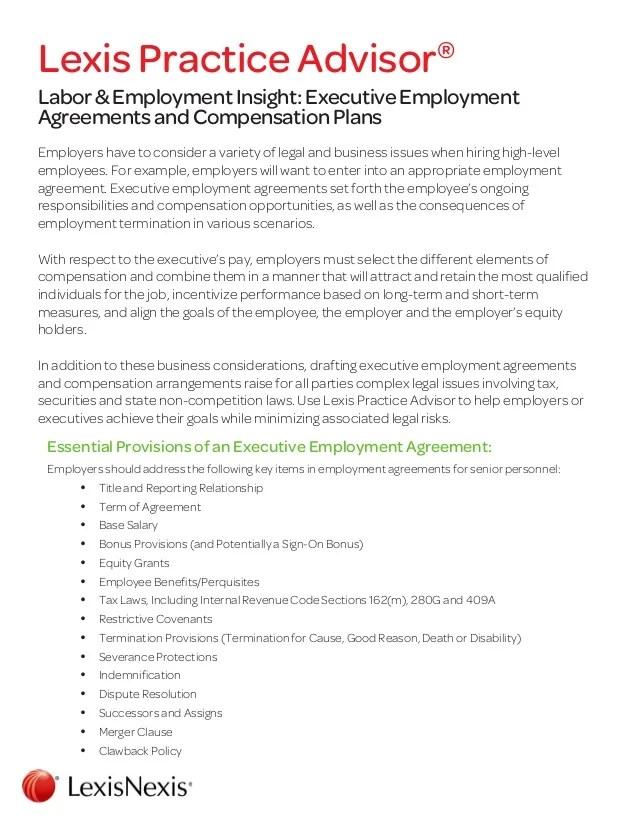 Executive Employment Contract Executive Employment Contract